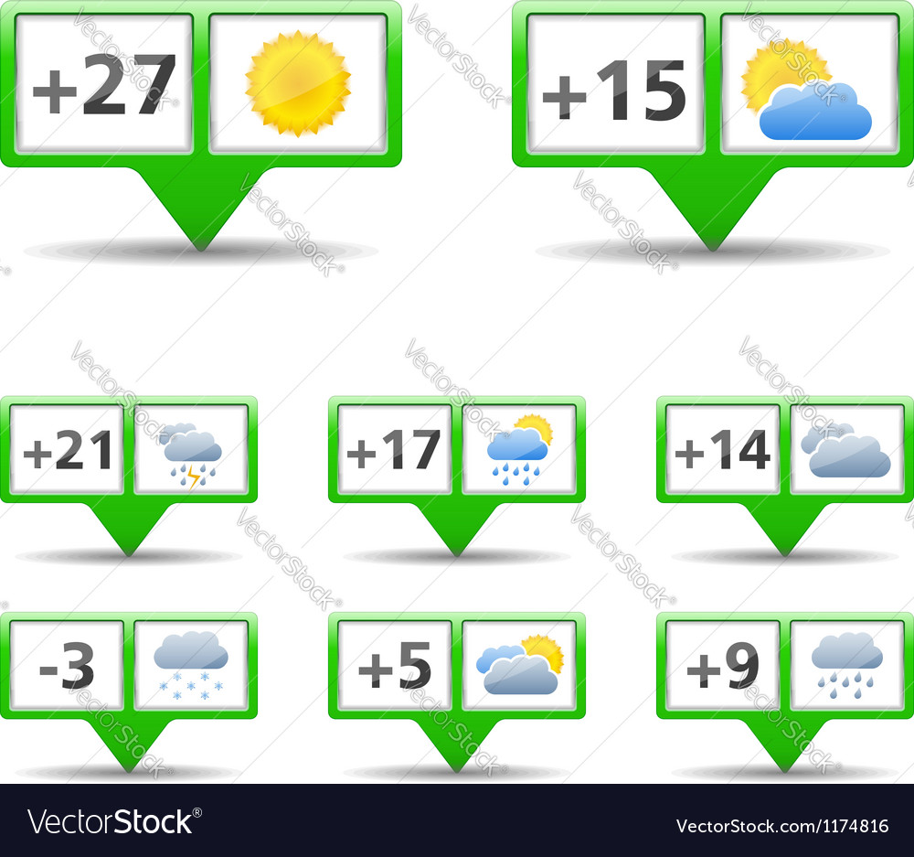 Icons for weather forecast vector | Price: 3 Credit (USD $3)