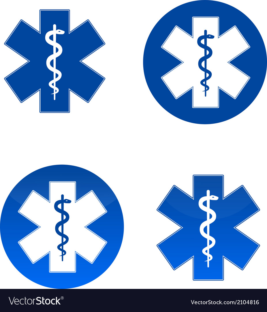 Medical star symbols vector | Price: 1 Credit (USD $1)