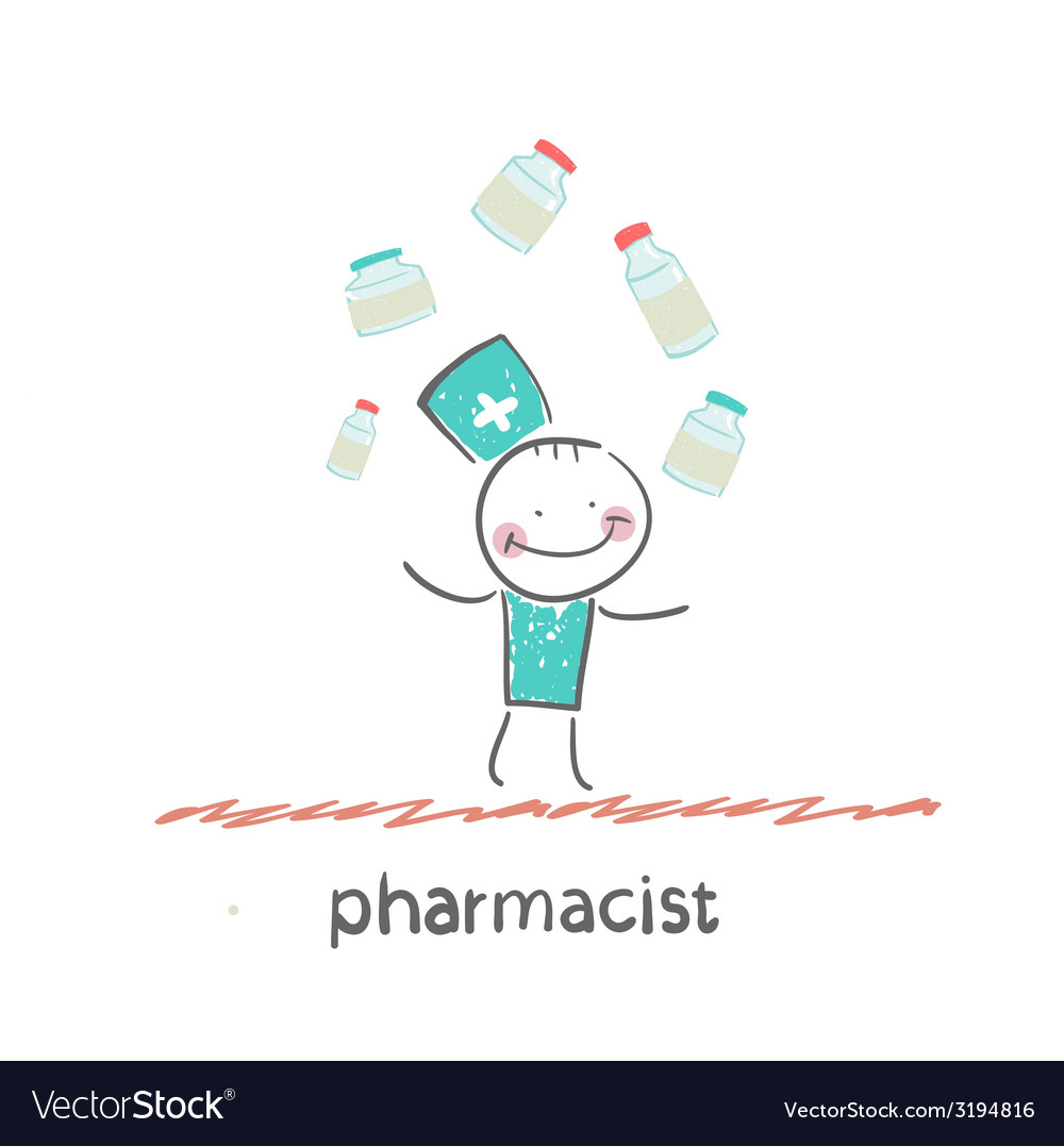 Pharmacist vector | Price: 1 Credit (USD $1)