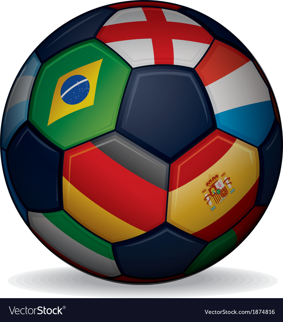 Soccer ball with world flags vector | Price: 1 Credit (USD $1)
