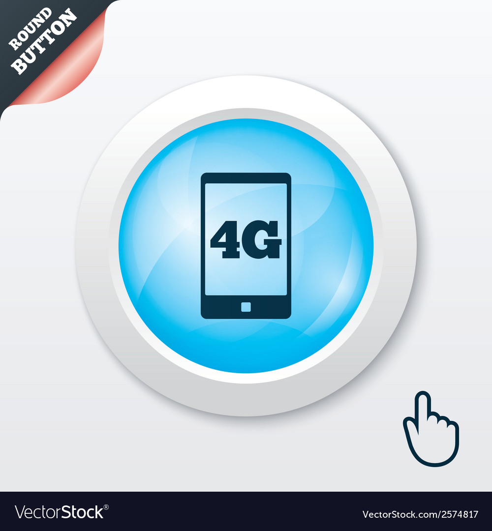 4g sign mobile telecommunications technology vector | Price: 1 Credit (USD $1)