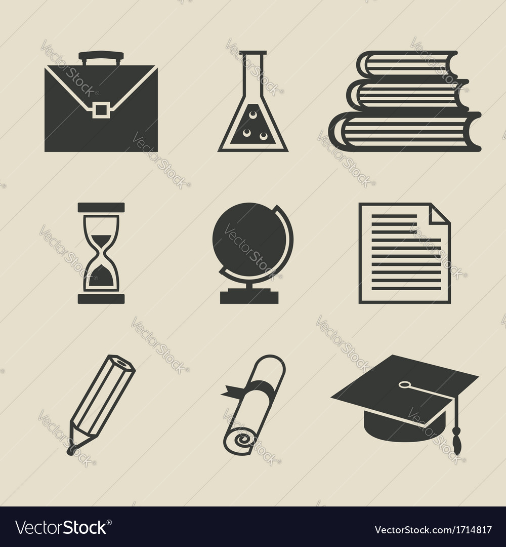Education icons set - vector | Price: 1 Credit (USD $1)