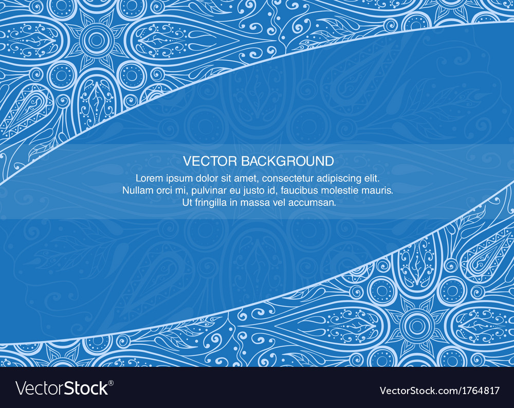 Elegant design template with floral elements on vector | Price: 1 Credit (USD $1)