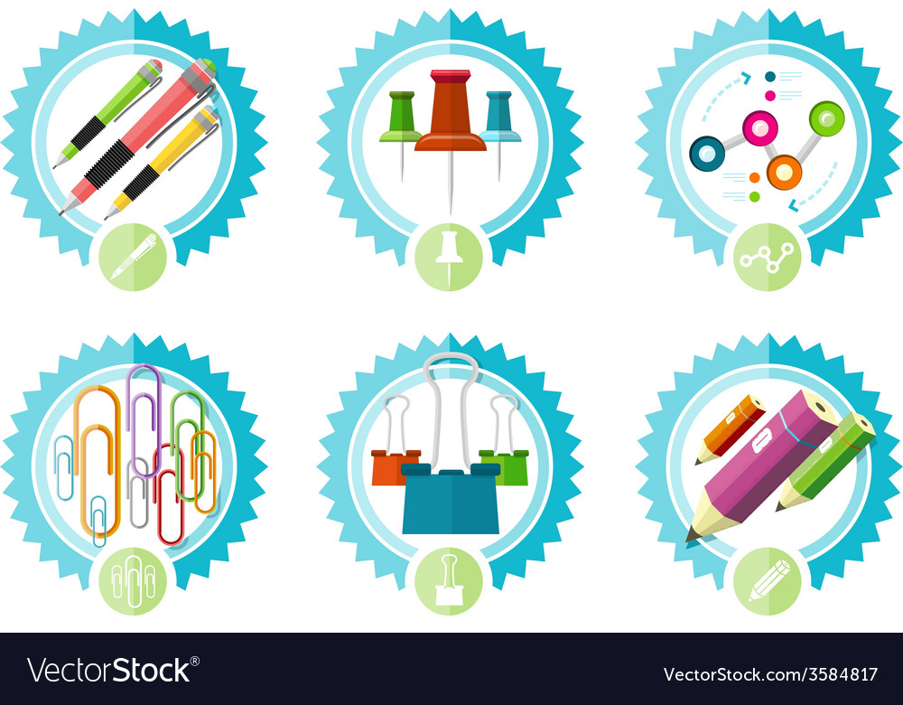 Icons of office tools vector | Price: 1 Credit (USD $1)
