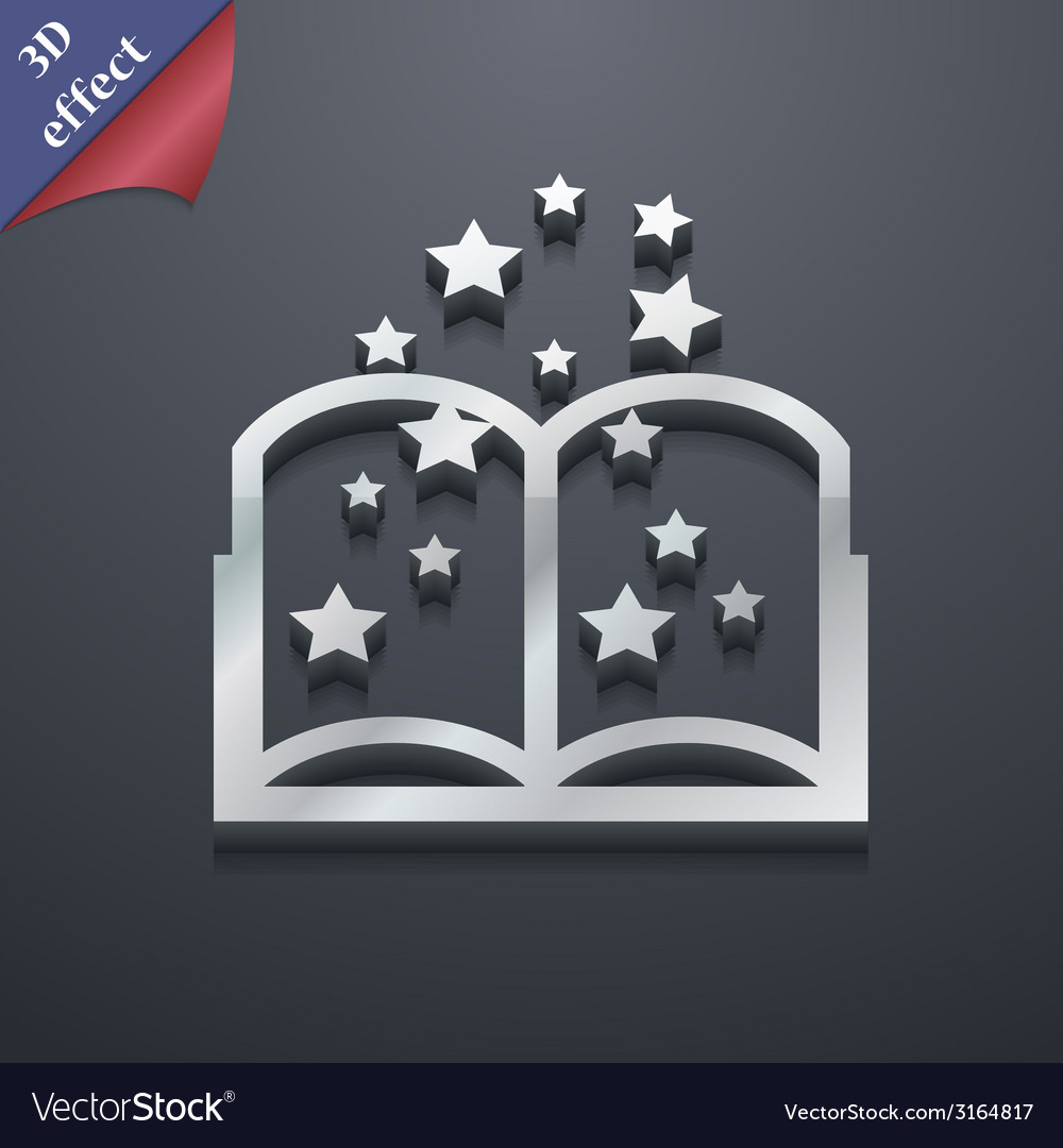 Magic book icon symbol 3d style trendy modern vector | Price: 1 Credit (USD $1)