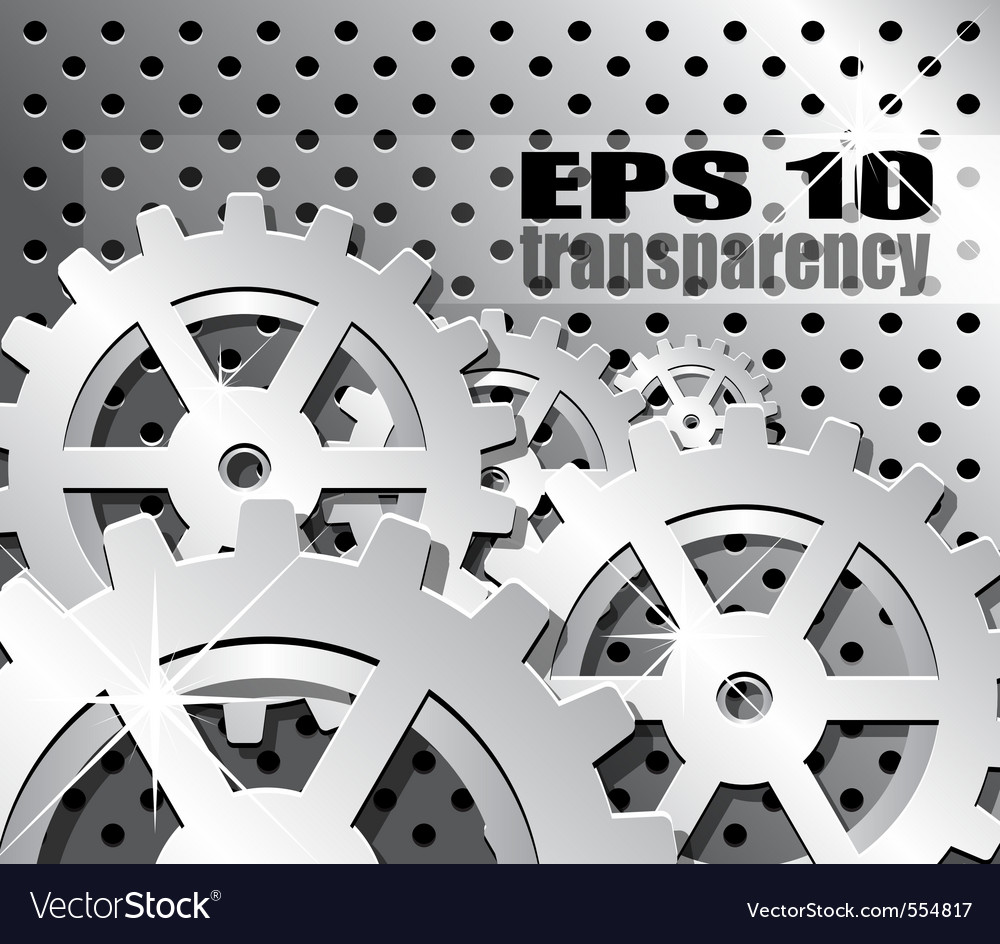 Mechanical gears background vector | Price: 1 Credit (USD $1)