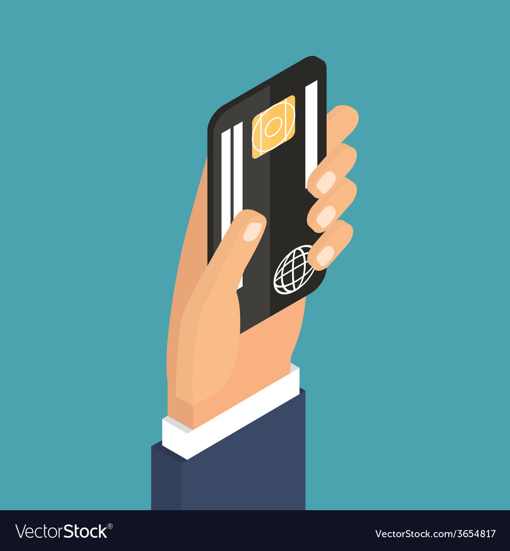 Payment using plastic card banking nfc vector | Price: 1 Credit (USD $1)