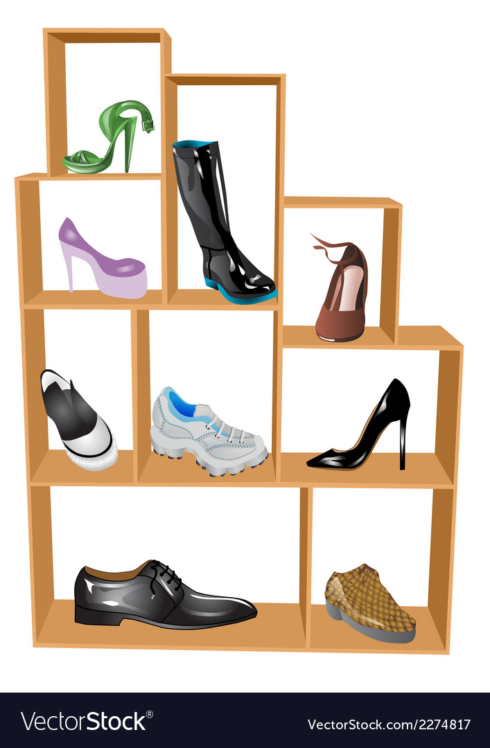 Shoe store vector | Price: 1 Credit (USD $1)