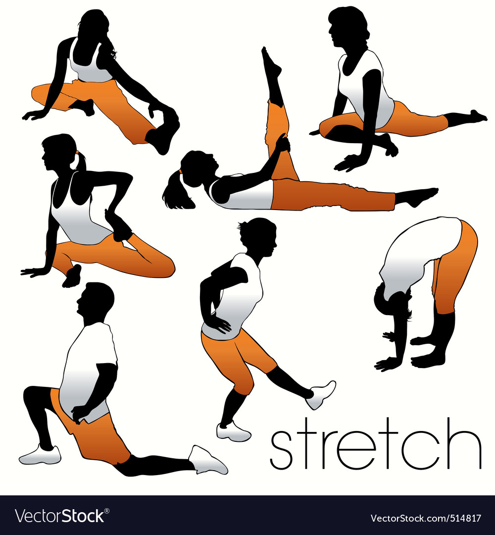 Stretching people vector | Price: 1 Credit (USD $1)