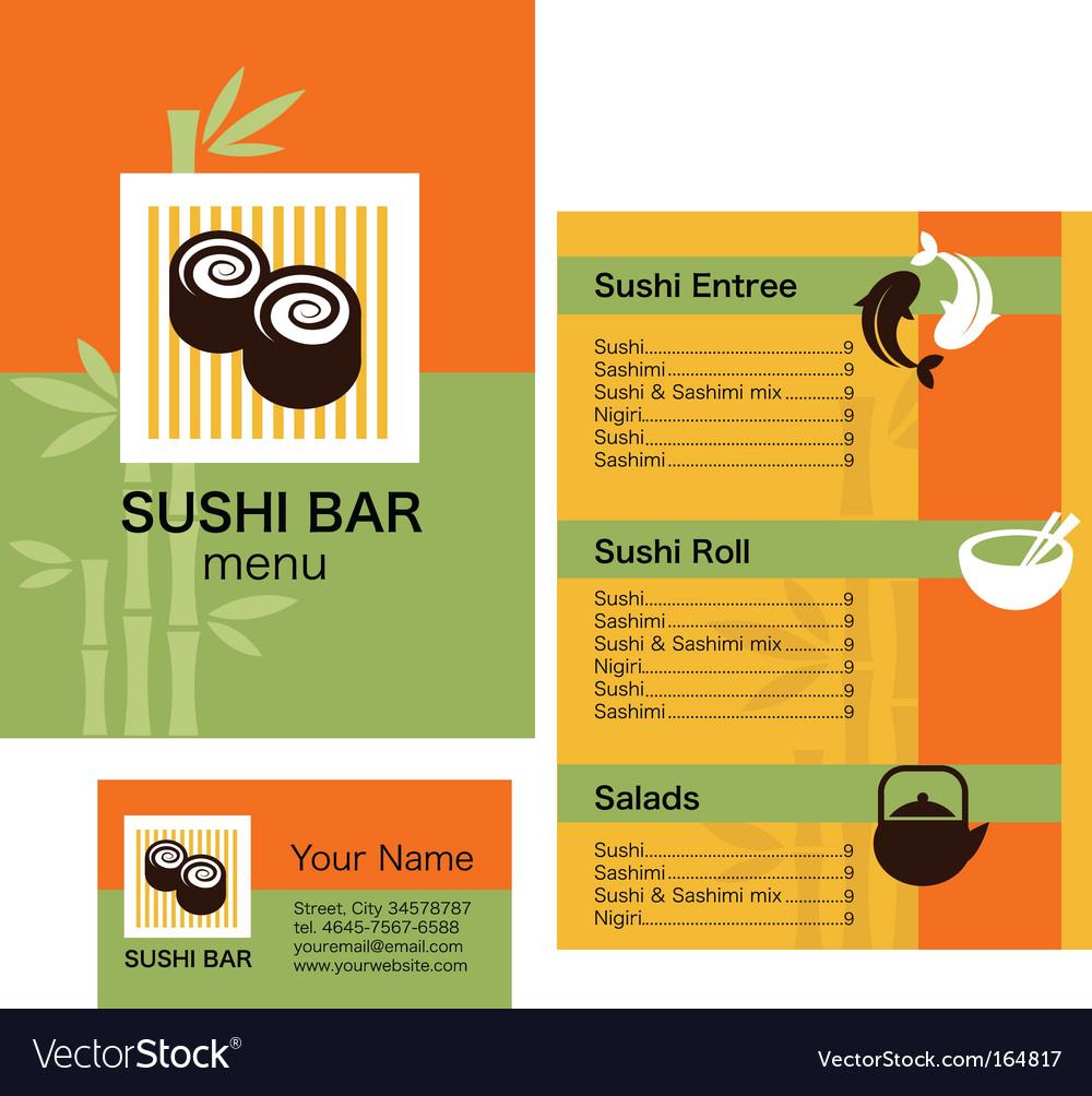 Sushi bar menu vector | Price: 1 Credit (USD $1)