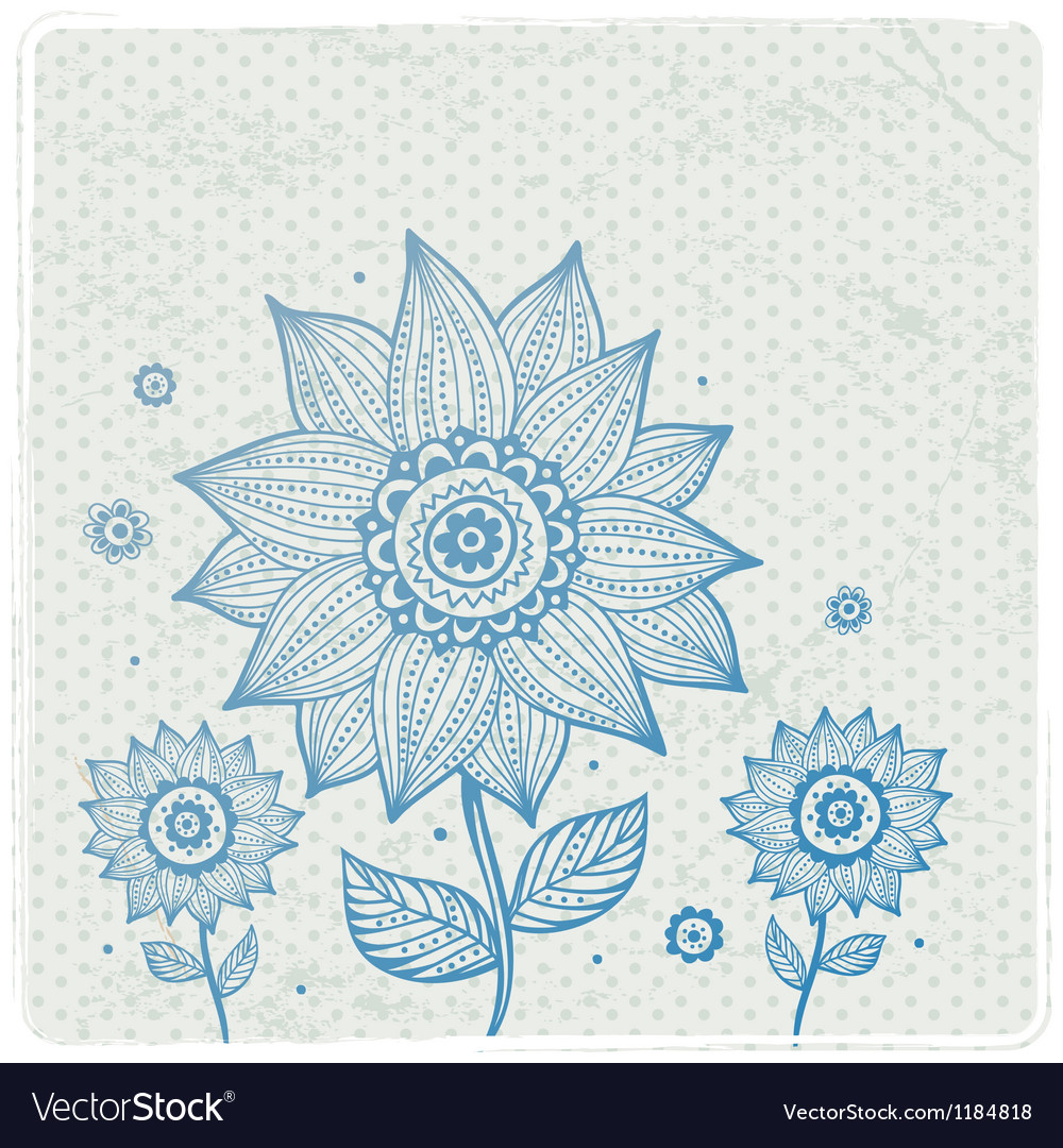 Beautiful floral ornament vector | Price: 1 Credit (USD $1)