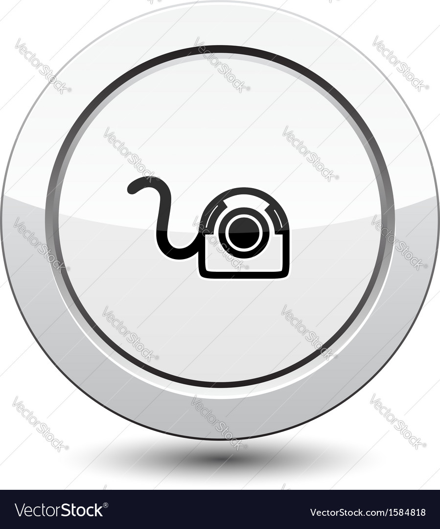 Button with web camera icon vector | Price: 1 Credit (USD $1)