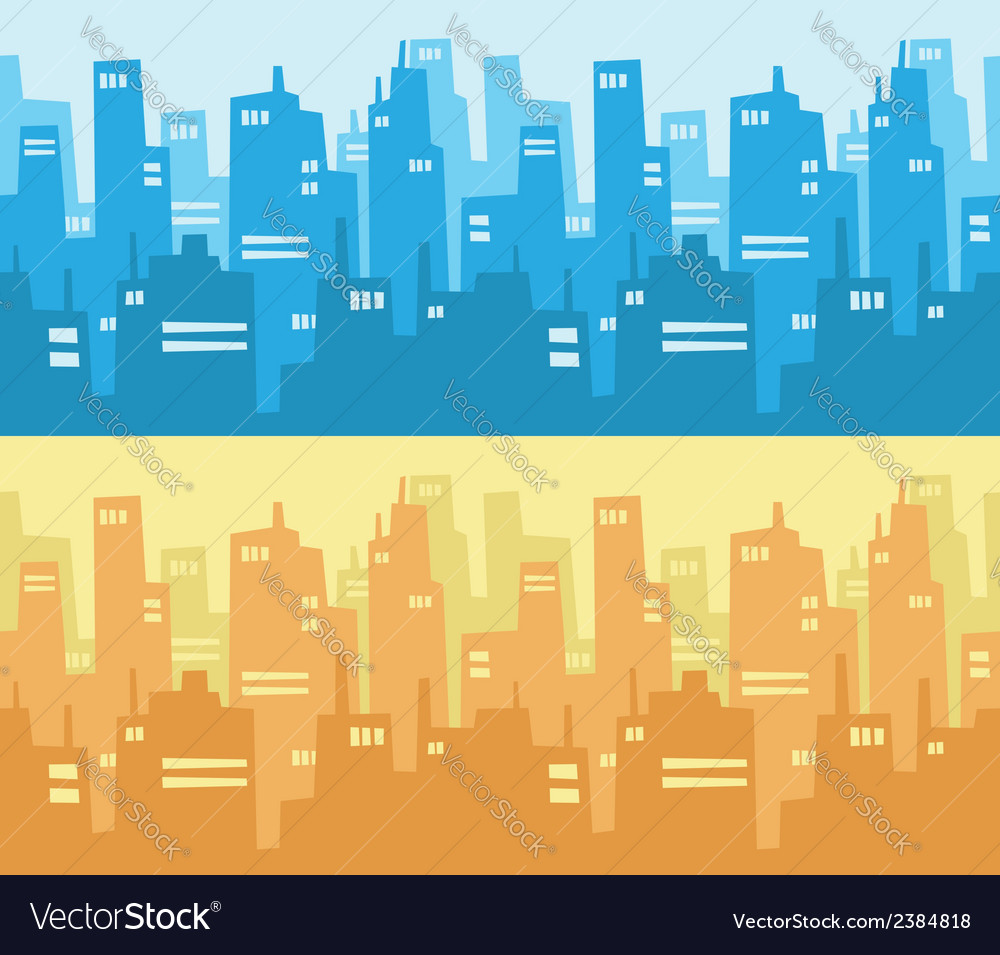 City skyscraper silhouette background vector | Price: 1 Credit (USD $1)