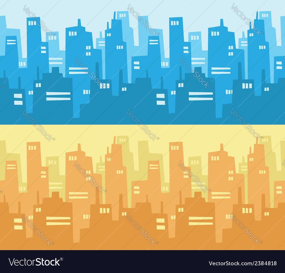 City skyscraper silhouette background vector   Price: 1 Credit (USD $1)