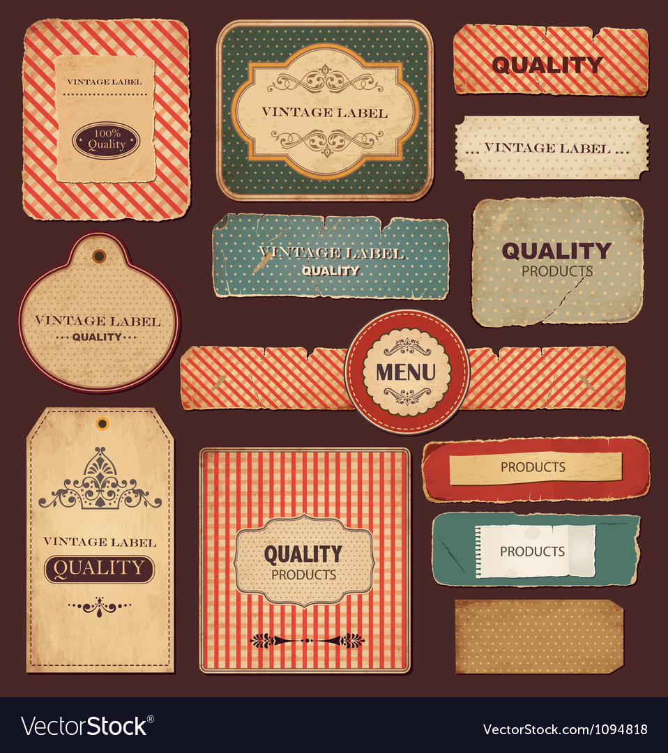 Collection of xmas labels vector | Price: 1 Credit (USD $1)