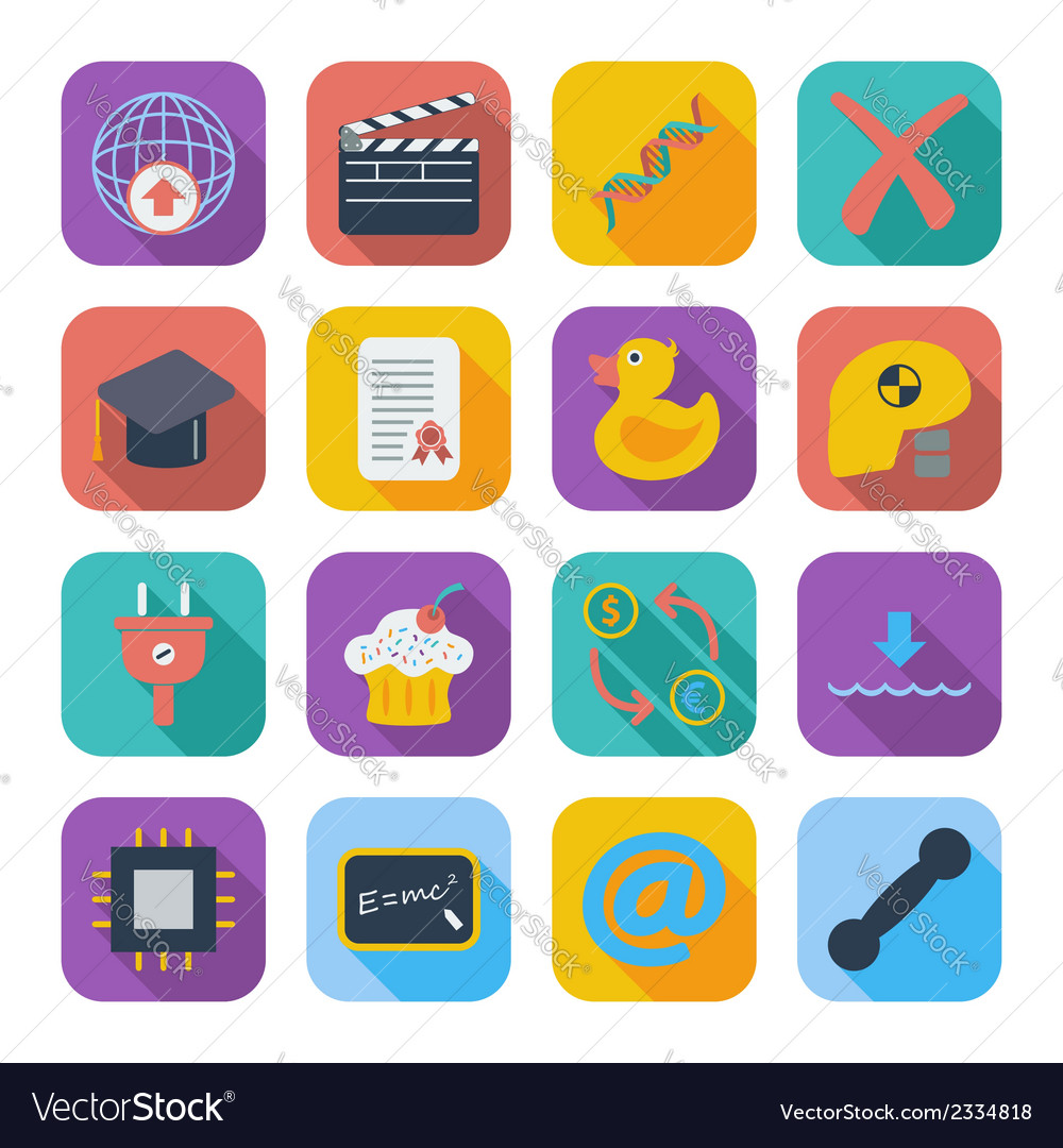 Color flat icons 7 vector | Price: 1 Credit (USD $1)