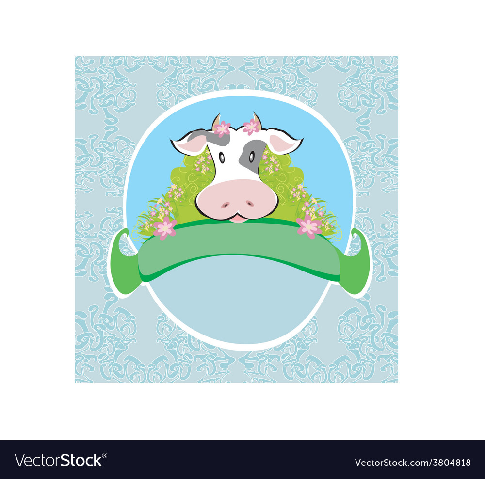 Funny cow signs vector | Price: 1 Credit (USD $1)