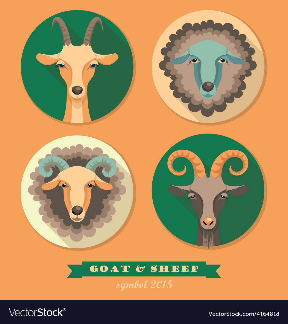 Goat and sheep vector | Price: 1 Credit (USD $1)