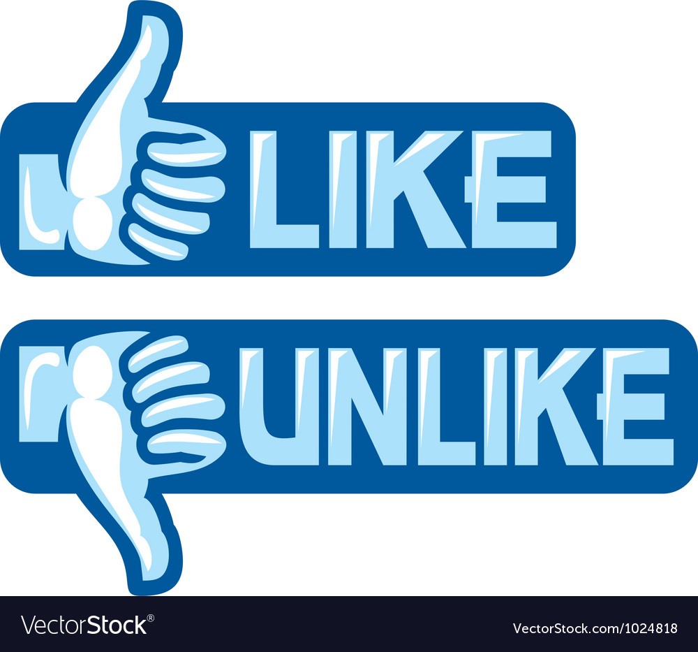 Like unlike sign vector | Price: 1 Credit (USD $1)