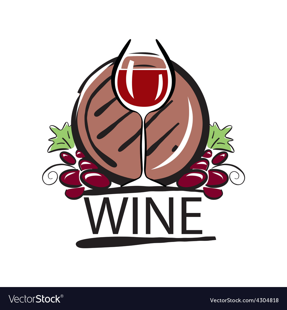 Logo red wine barrel and the vine vector | Price: 1 Credit (USD $1)