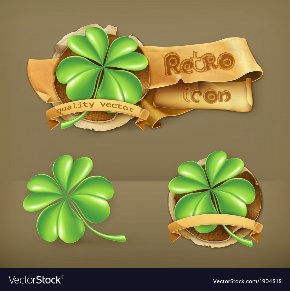 Lucky clover icon vector | Price: 1 Credit (USD $1)