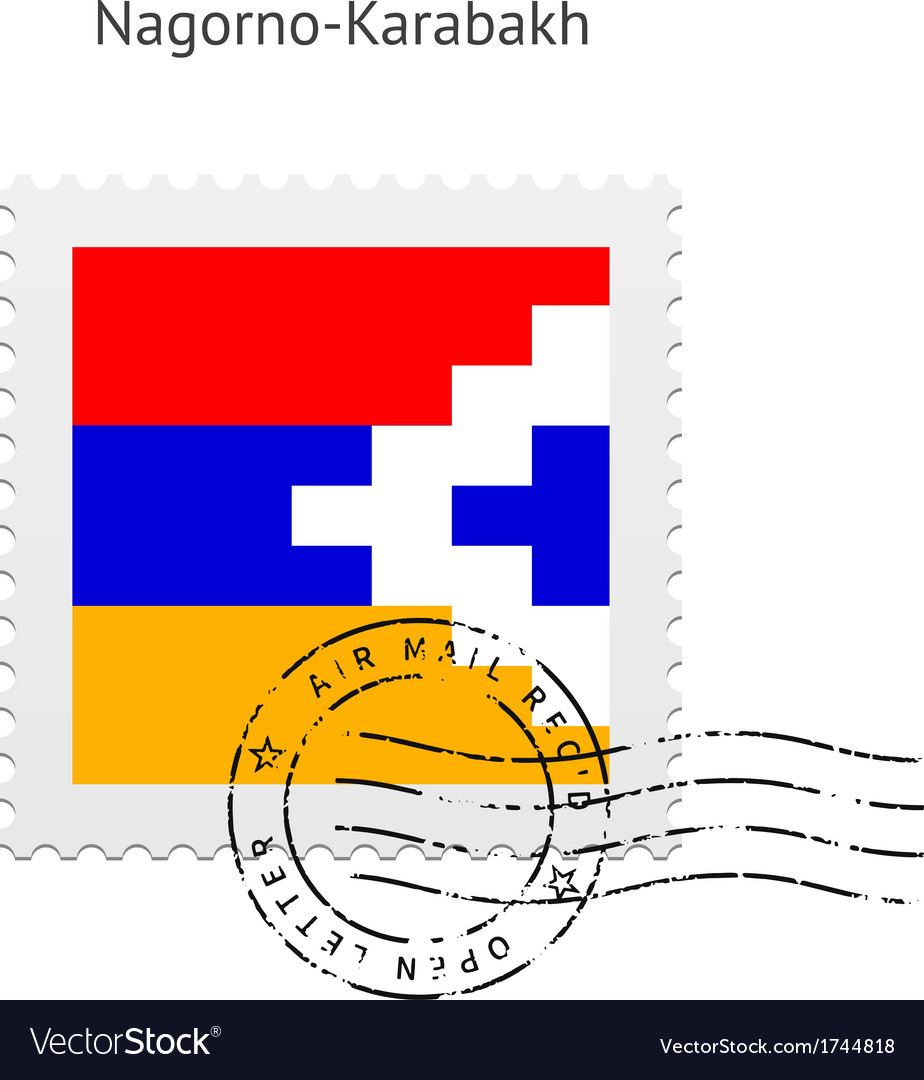 Nagorno-karabakh flag postage stamp vector   Price: 1 Credit (USD $1)