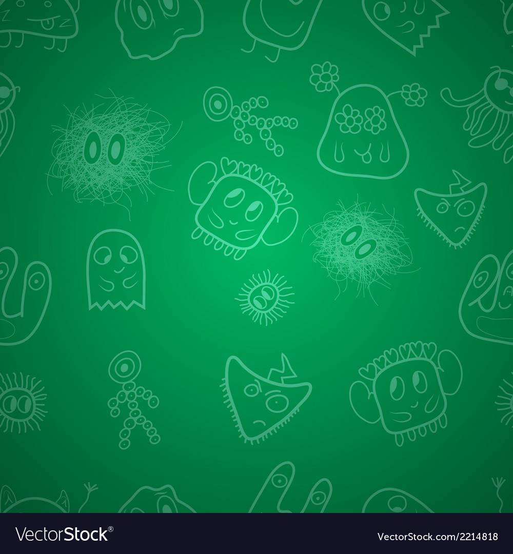 Seamless pattern with monsters vector | Price: 1 Credit (USD $1)