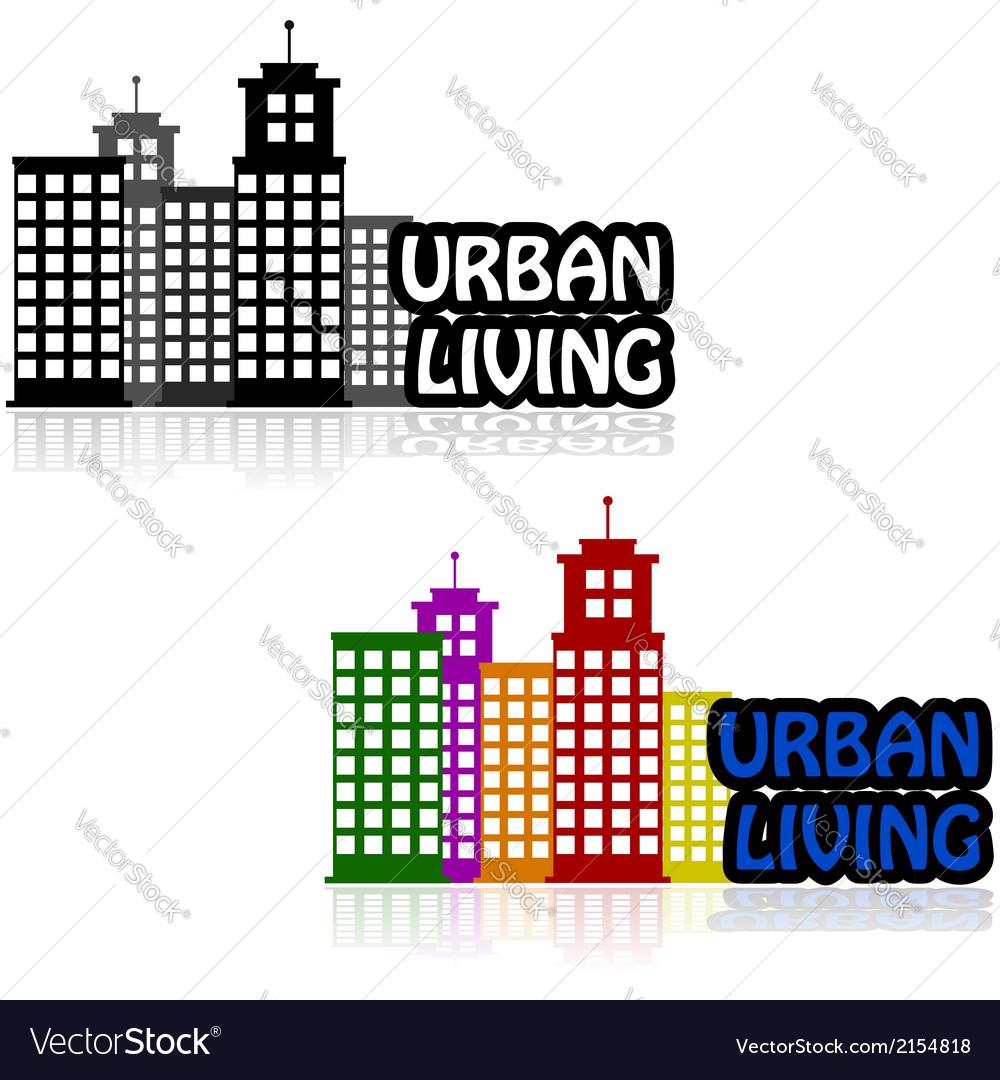 Urban living vector | Price: 1 Credit (USD $1)