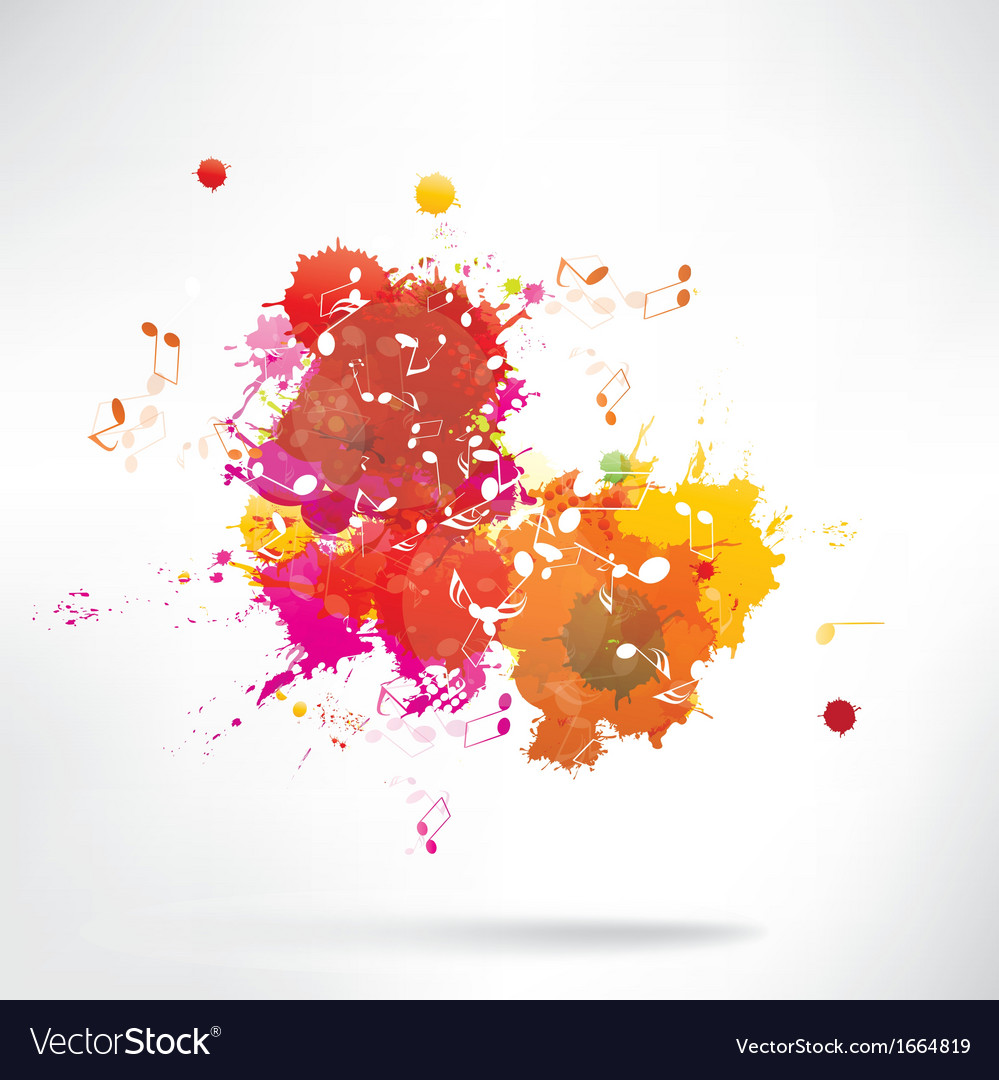 Abstract background notes and splatter vector | Price: 1 Credit (USD $1)