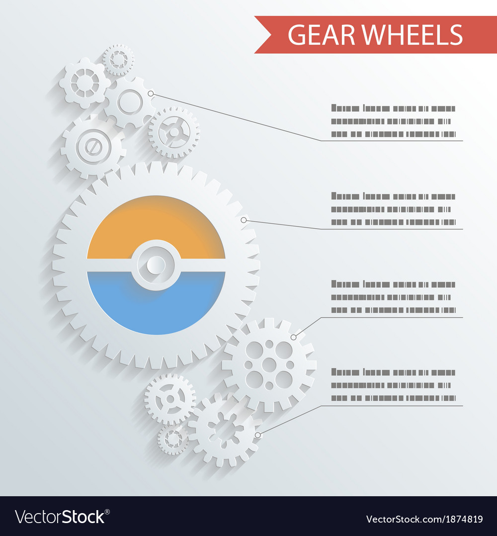 Abstract gear wheels infographics background vector | Price: 1 Credit (USD $1)