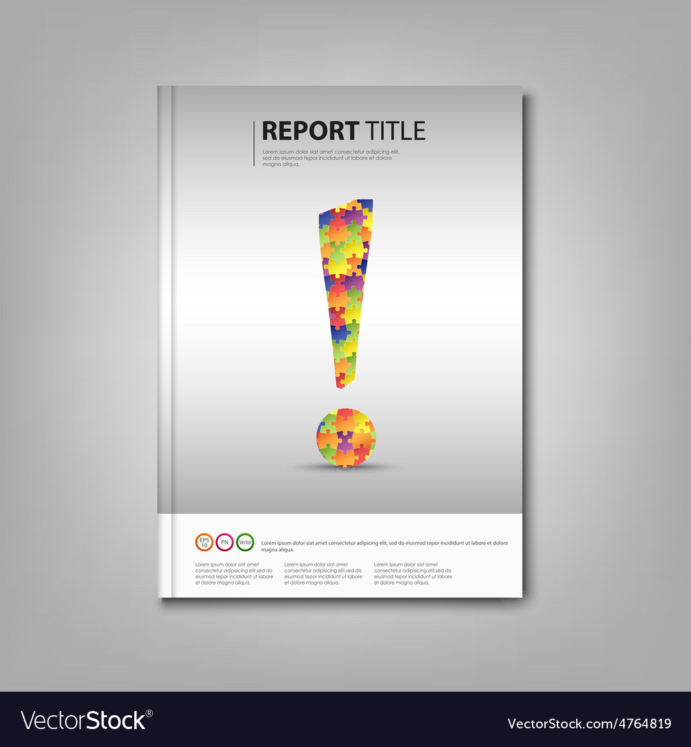 Brochures book with colored exclamation template vector | Price: 1 Credit (USD $1)