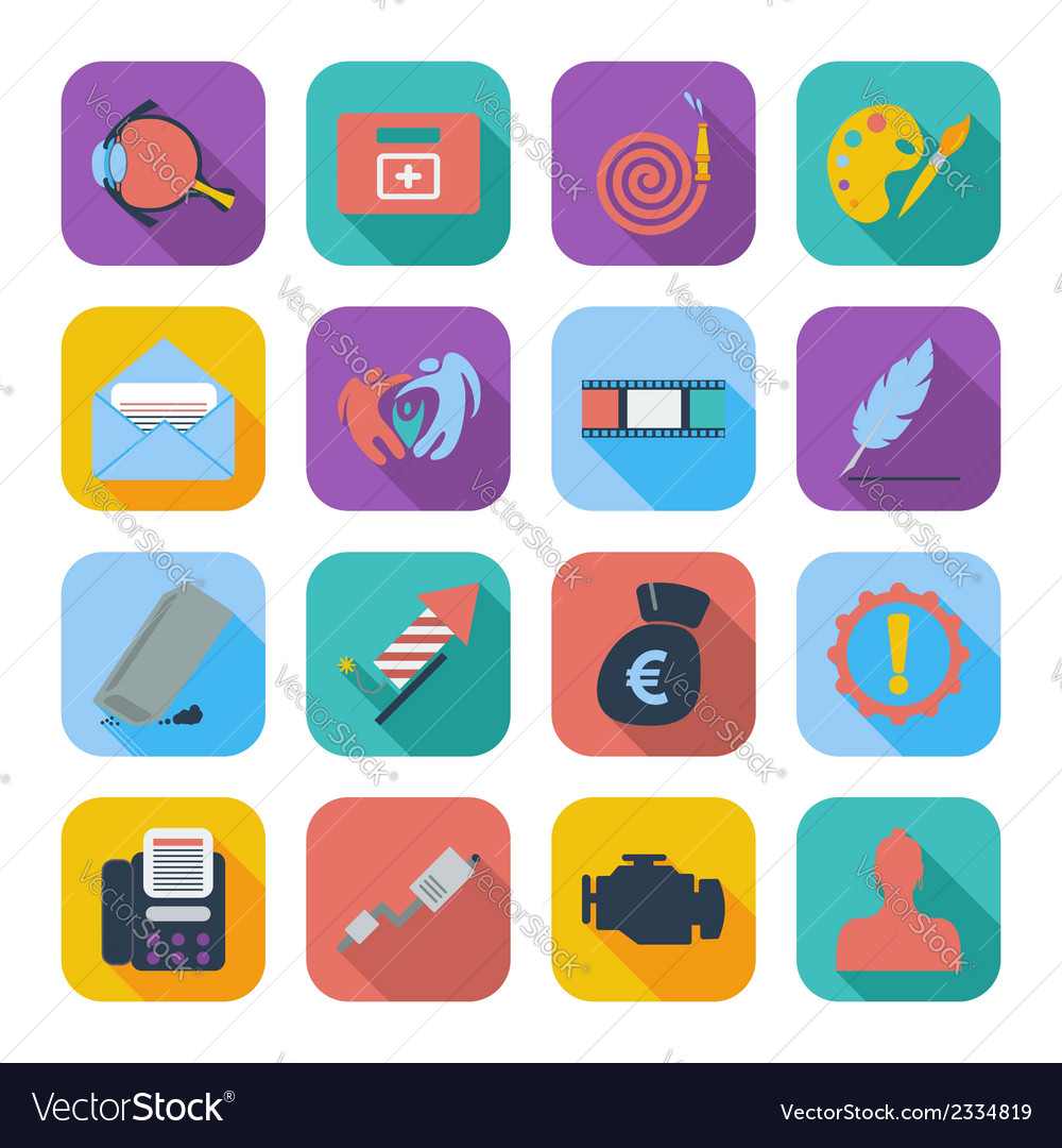 Color flat icons 8 vector | Price: 1 Credit (USD $1)