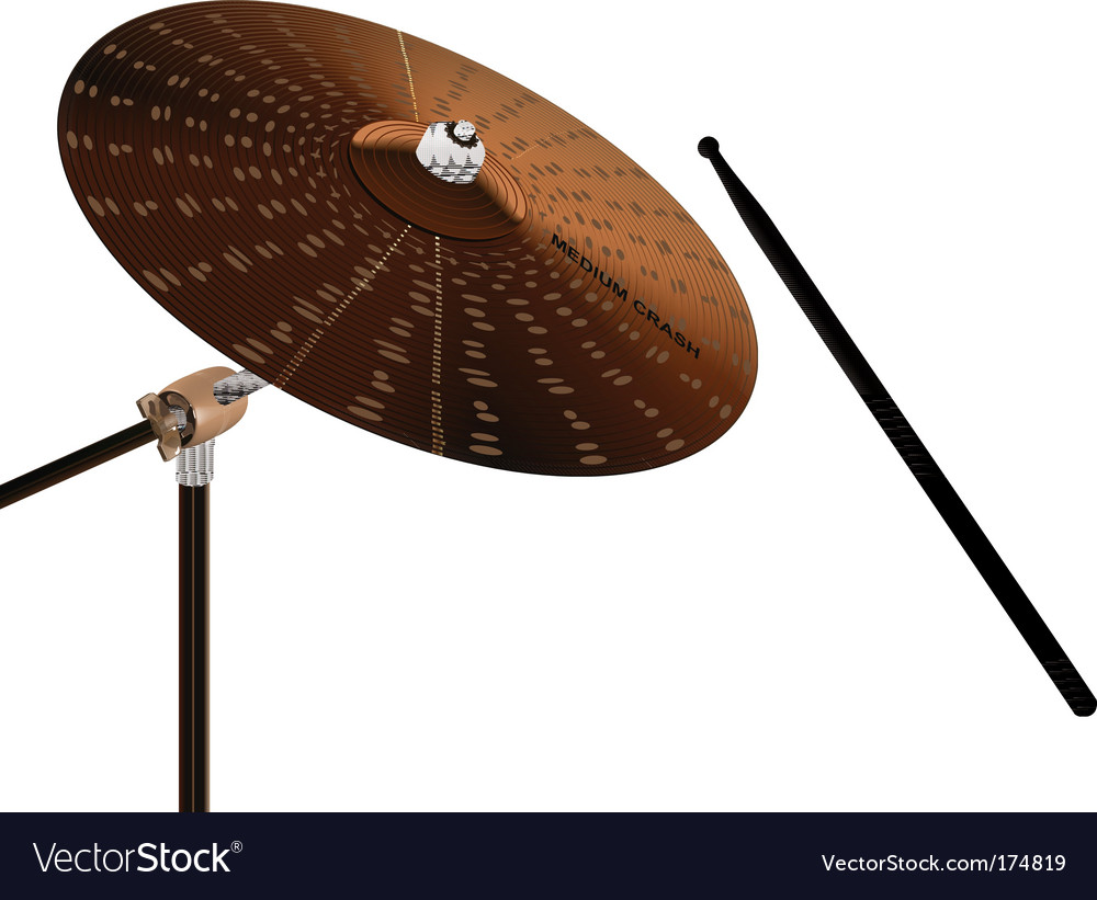 Crash cymbal vector | Price: 1 Credit (USD $1)