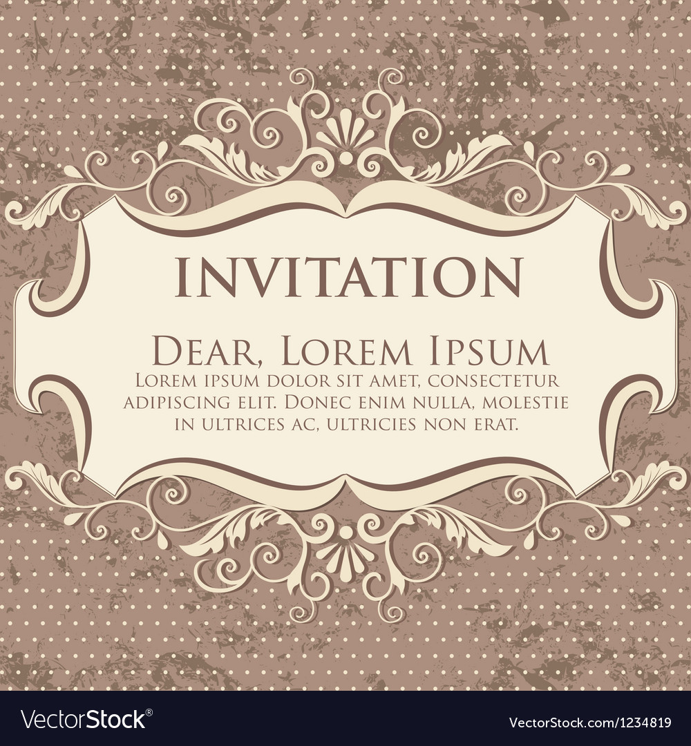 Elegant floral invitation card vector | Price: 1 Credit (USD $1)