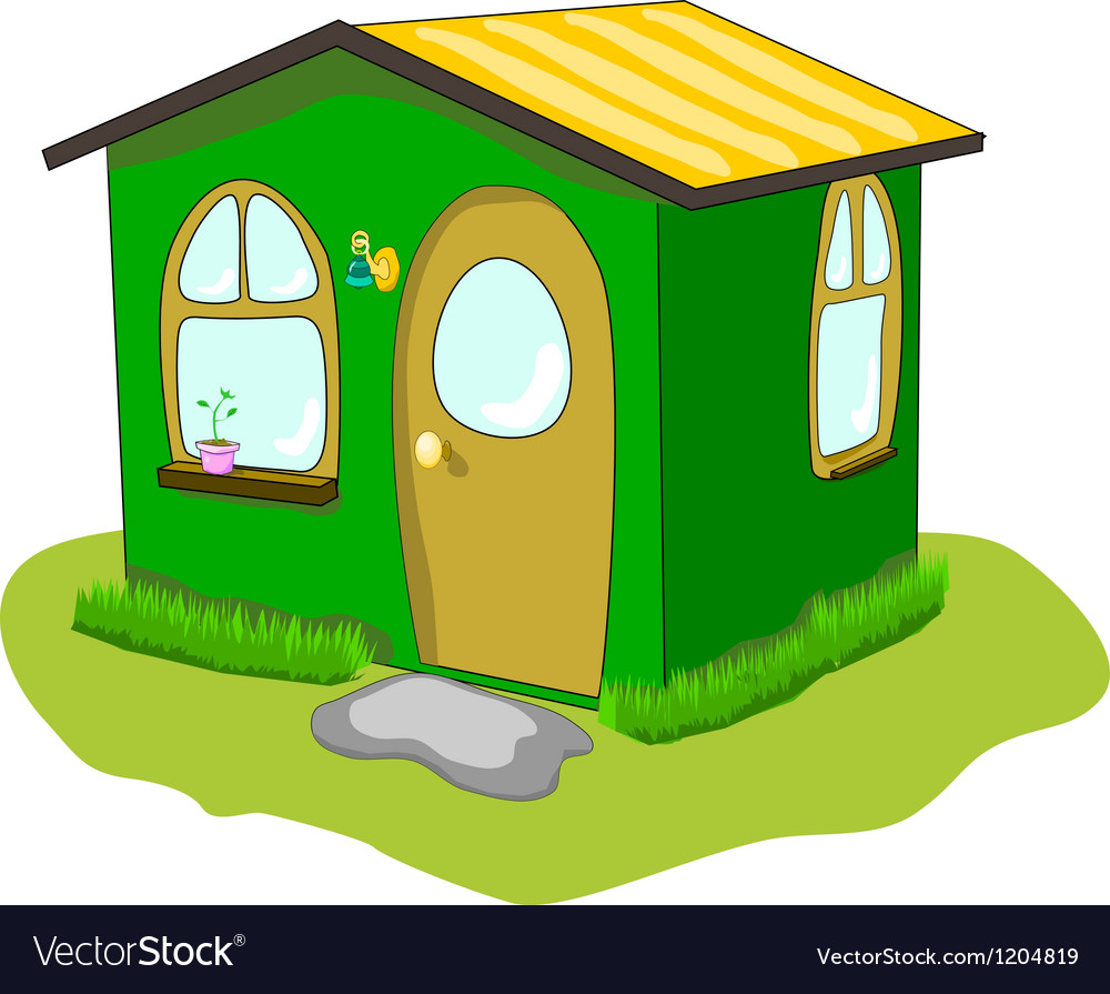 Fantastic green lodge on a white background vector | Price: 1 Credit (USD $1)