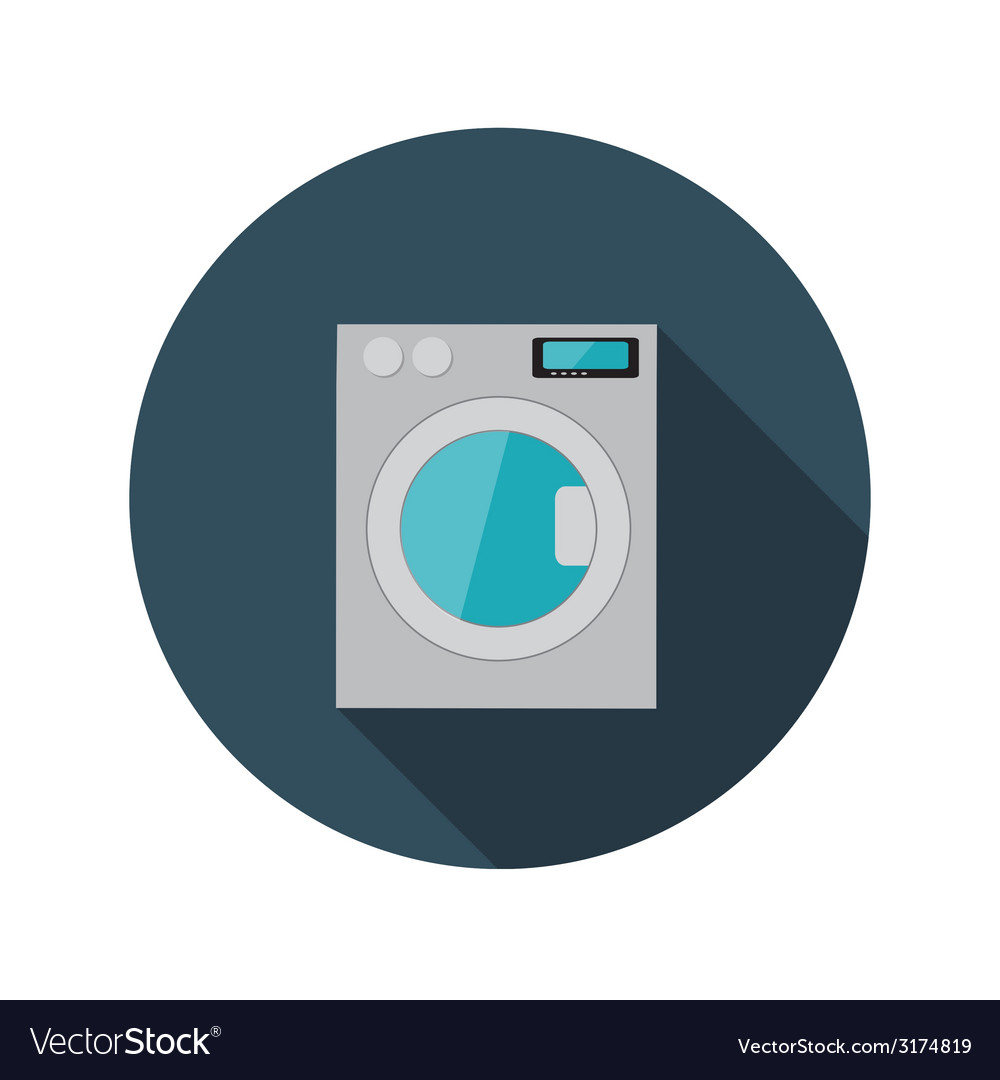 Flat design concept washing machine with lon vector | Price: 1 Credit (USD $1)