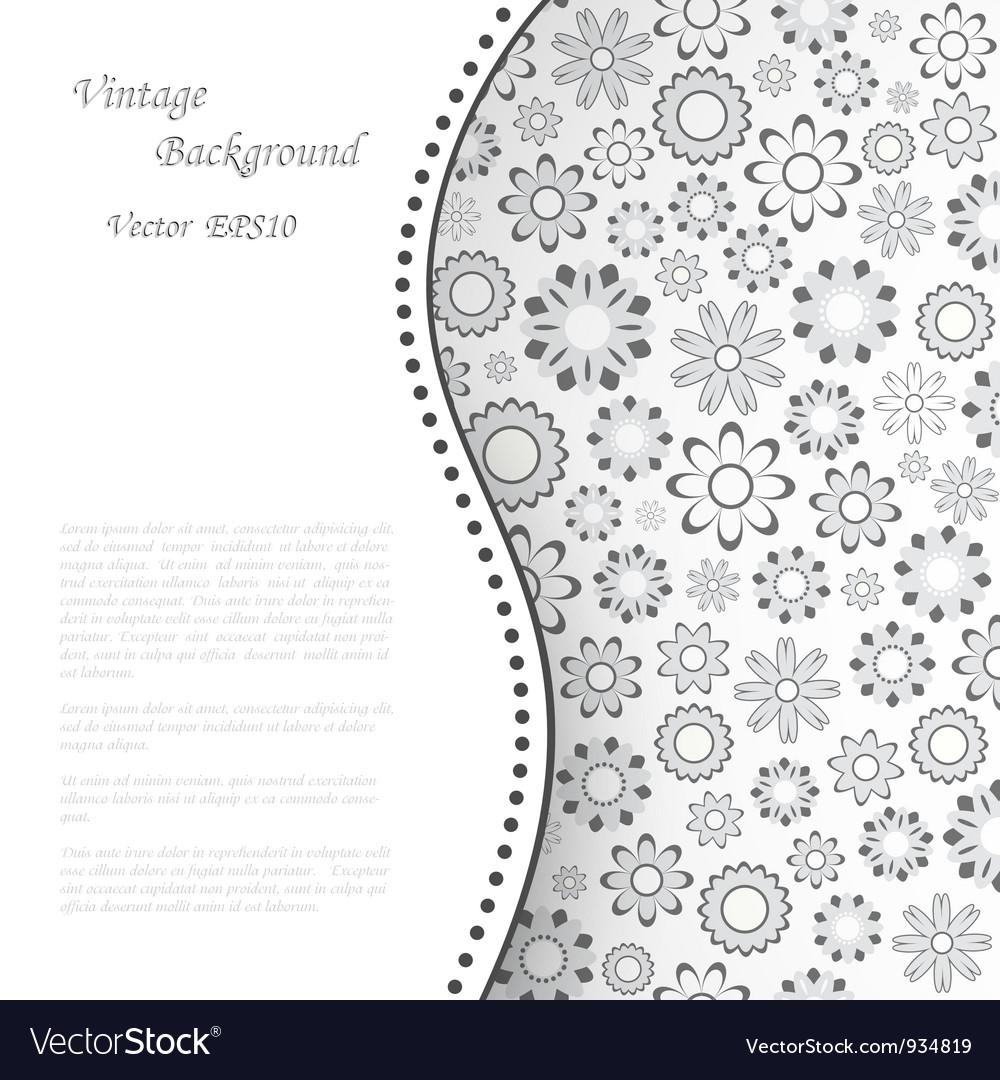 Floral retro background vector   Price: 1 Credit (USD $1)