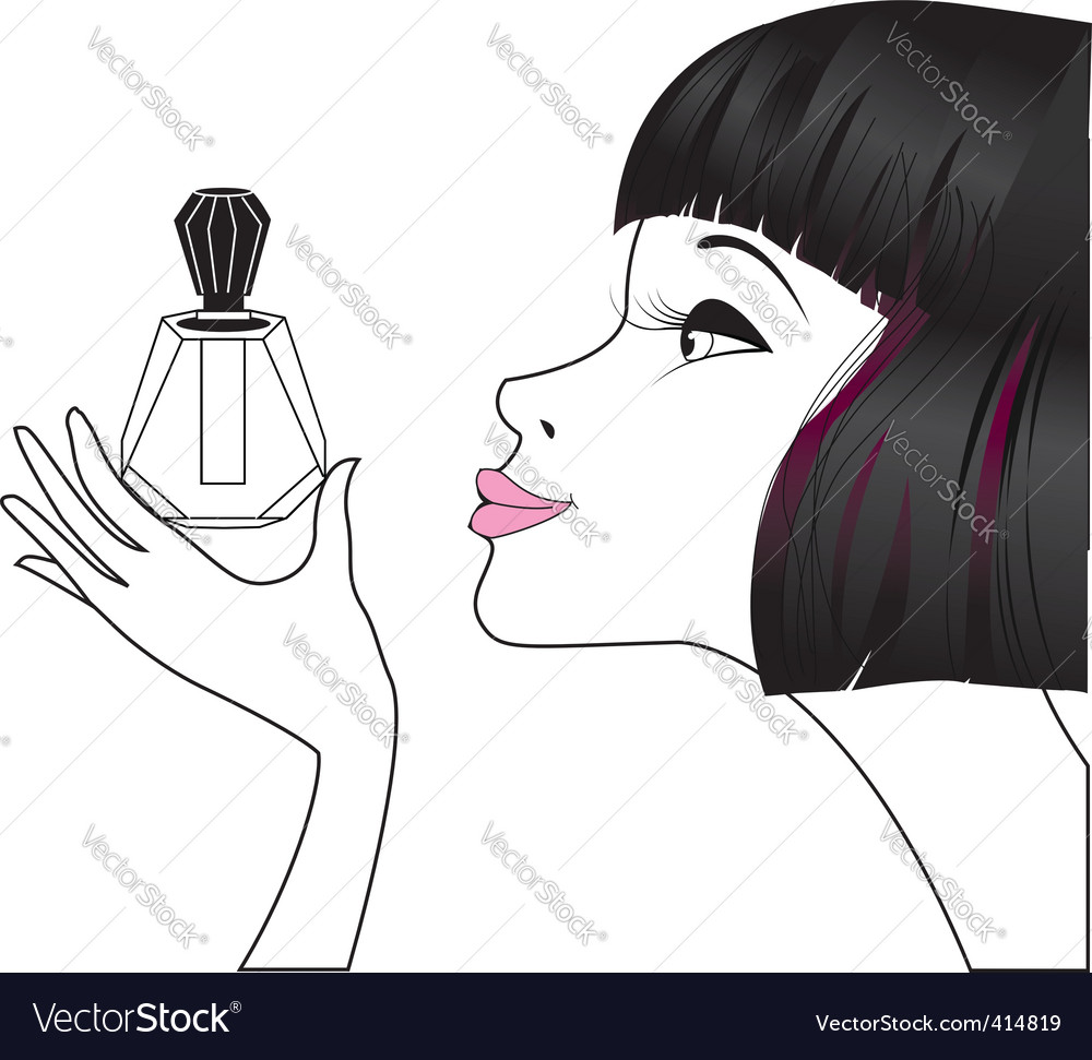 Girl perfume vector | Price: 1 Credit (USD $1)