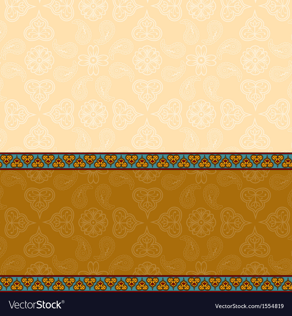 Indian background with border vector | Price: 1 Credit (USD $1)