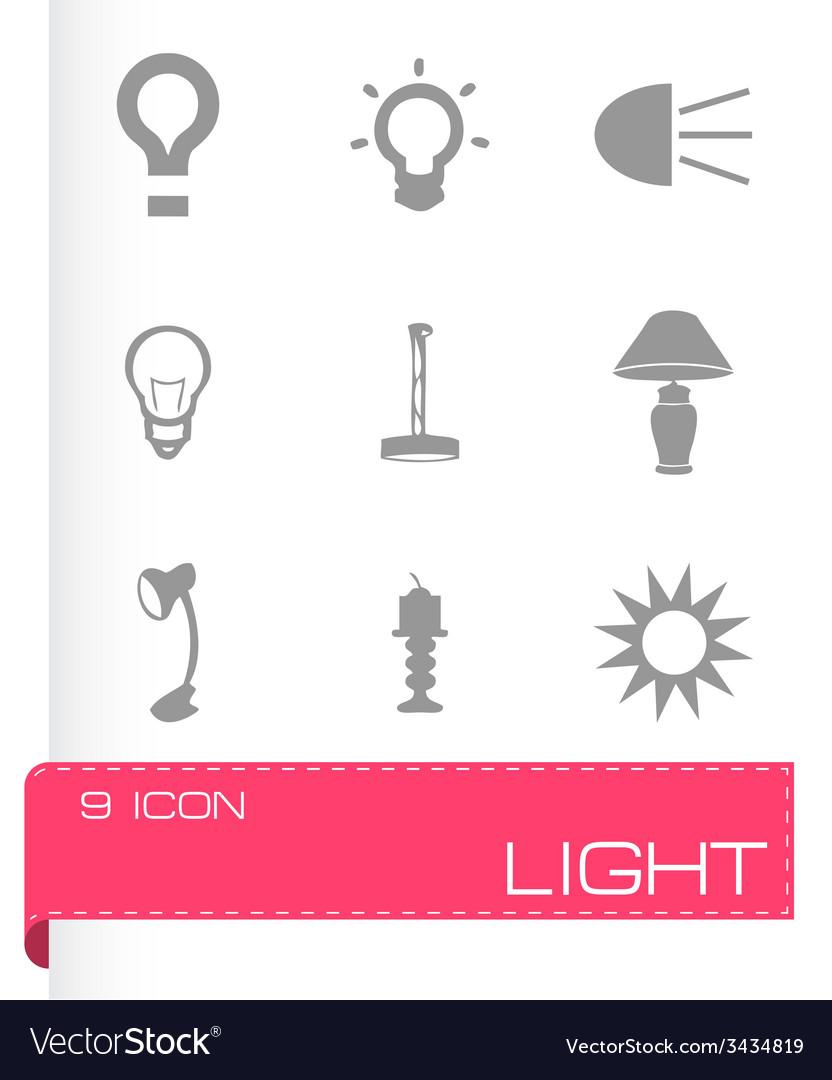 Light icons set vector   Price: 1 Credit (USD $1)