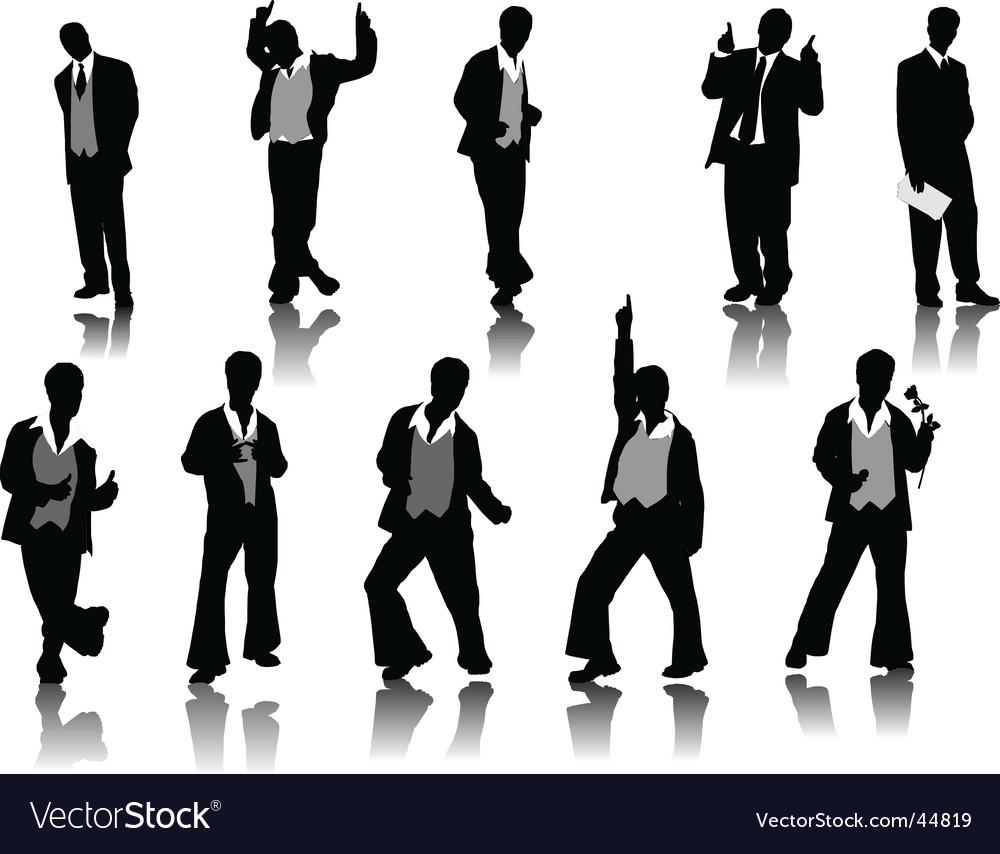 Men silhouettes vector | Price: 1 Credit (USD $1)
