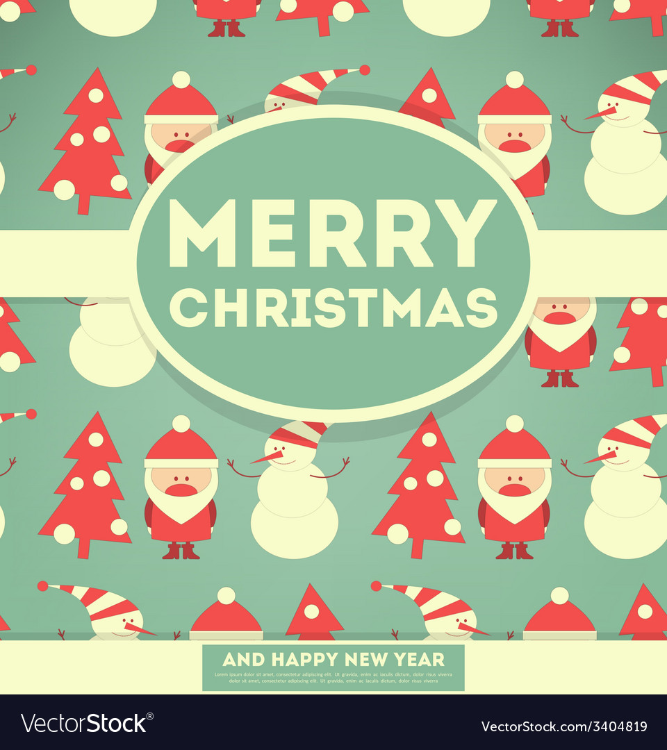 Merry christmas and new years card vector | Price: 1 Credit (USD $1)