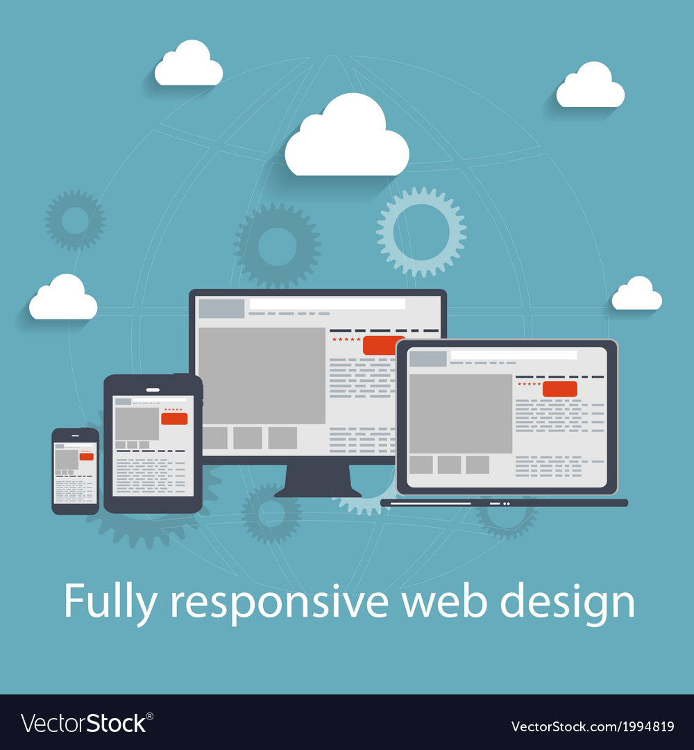 Responsive web design icon vector | Price: 1 Credit (USD $1)