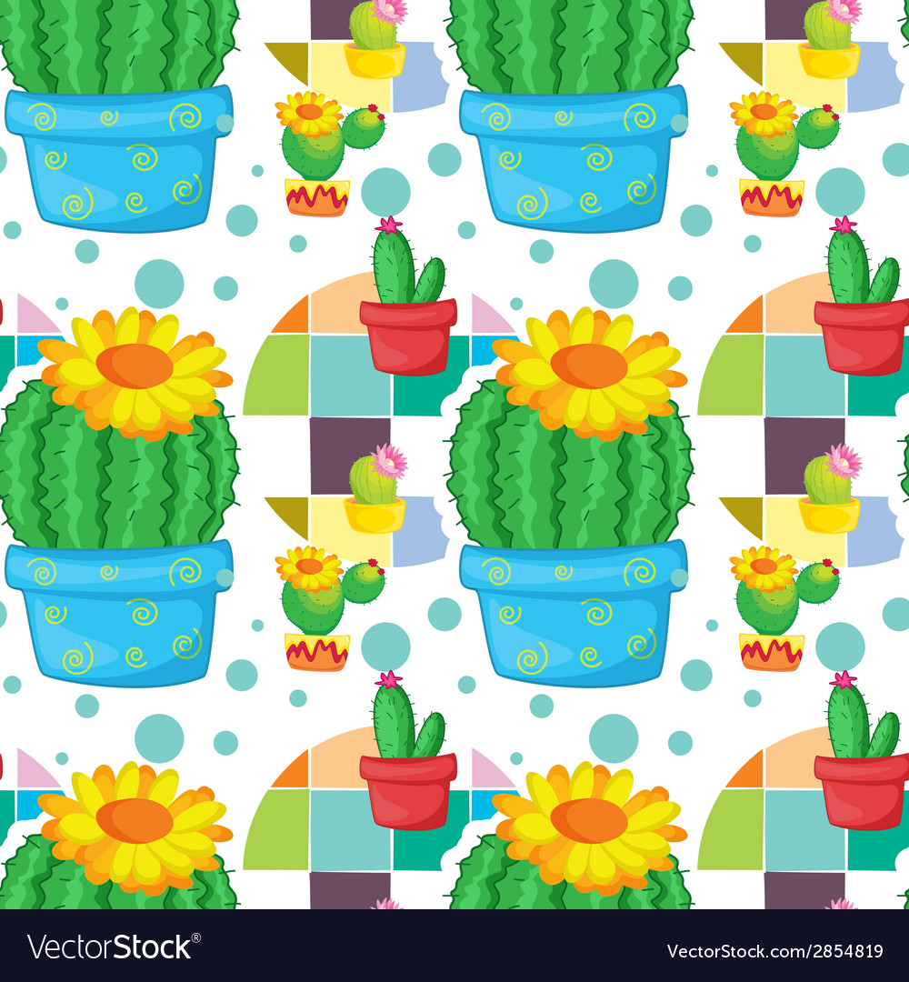 Seamless cactus vector | Price: 1 Credit (USD $1)