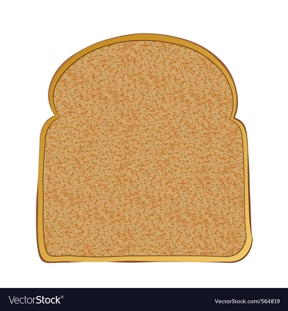Slice of wholemeal toast with space for text vector | Price: 1 Credit (USD $1)
