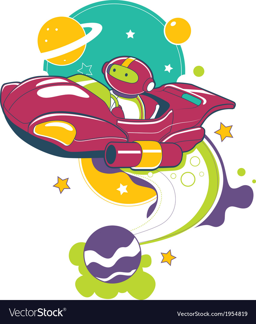 Space adventure vector | Price: 3 Credit (USD $3)