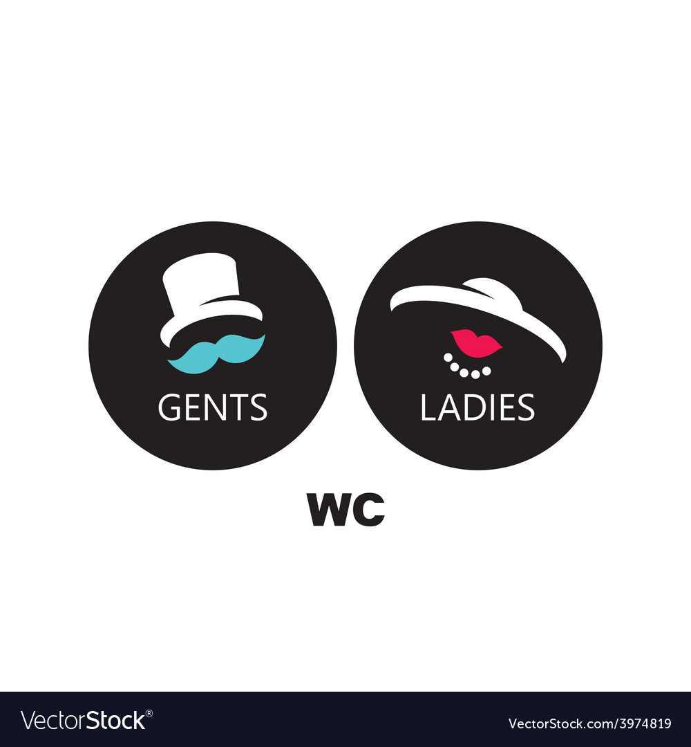 Wc sign vector | Price: 1 Credit (USD $1)