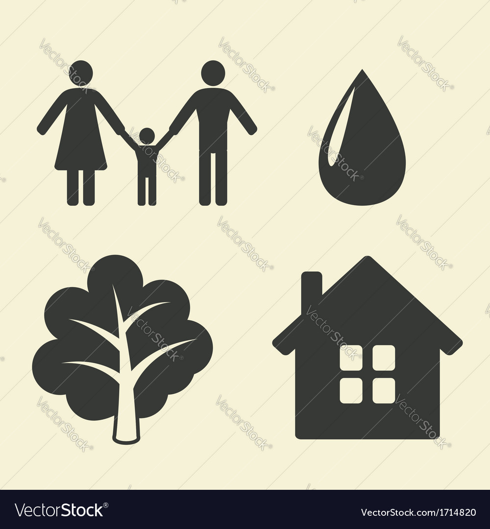 Environmental protection icons vector | Price: 1 Credit (USD $1)