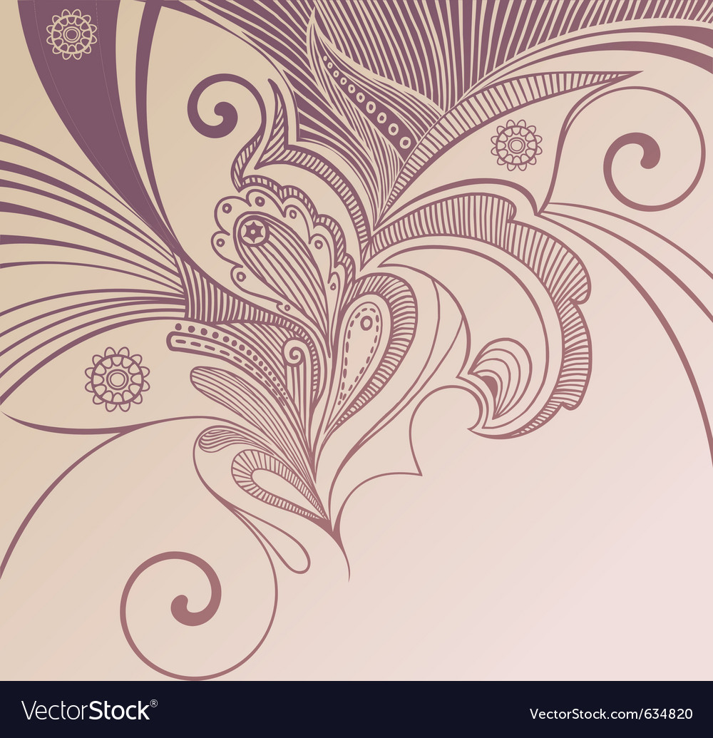 Handdrawn floral vector | Price: 1 Credit (USD $1)