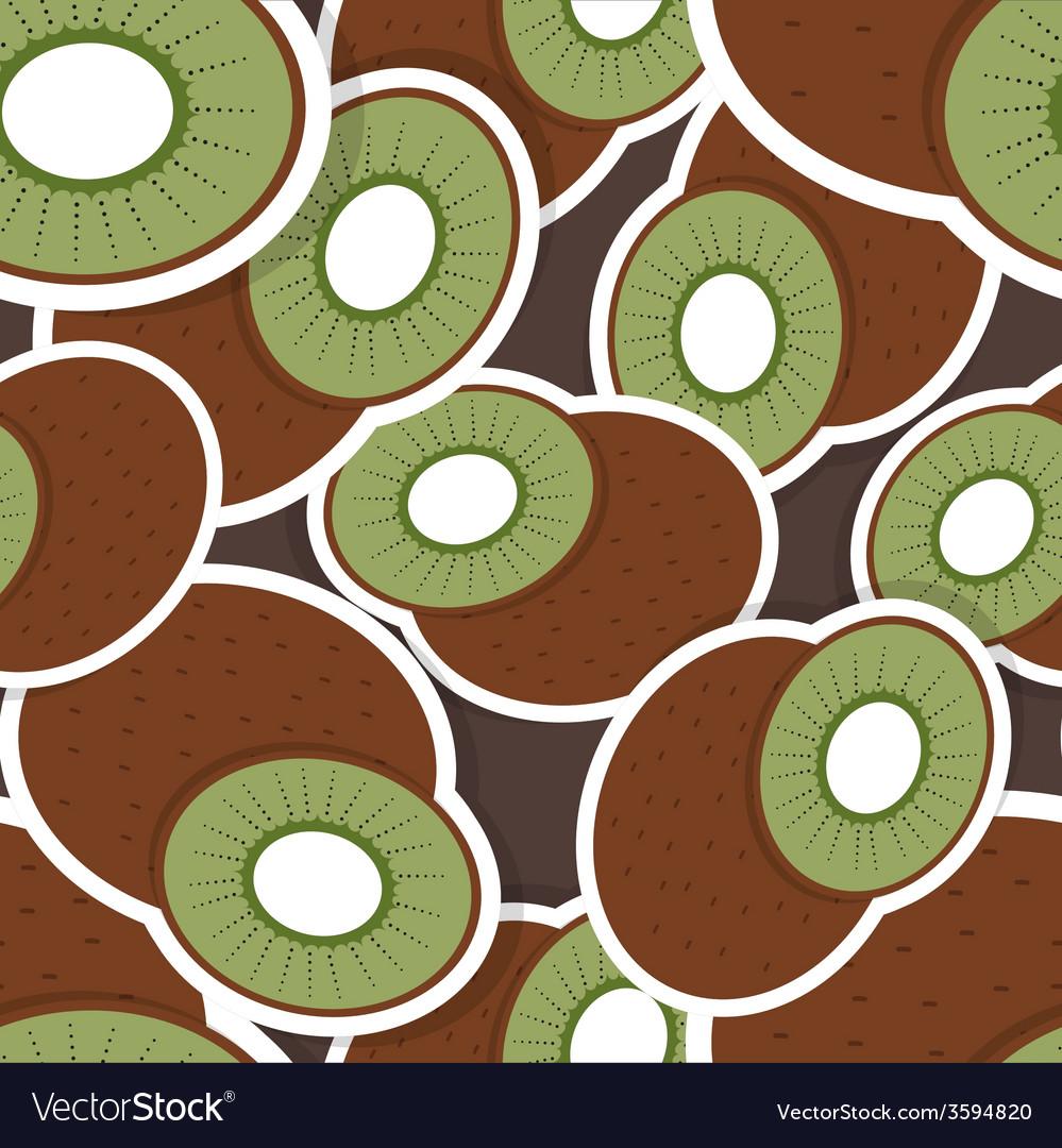 Kiwi pattern seamless texture with ripe kiwi vector   Price: 1 Credit (USD $1)